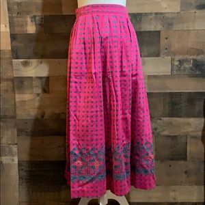 Vintage Bryn Connelly pink midi skirt